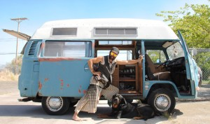 VW camping for seven years Coulson Rich and his dog Atlas are preparing for Burning Man 2012