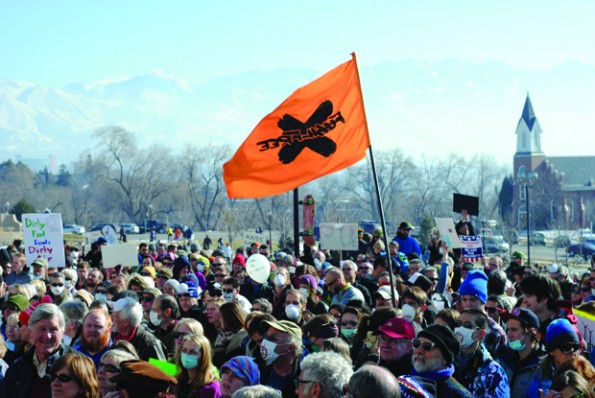 Clean Air No Excuses Rally at the Utah State Capitol on Saturday January, 25th, 2014