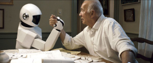 """From the movie """"Robot & Frank,"""" where an ex-jewel thief receives a robot butler programmed to look after him."""