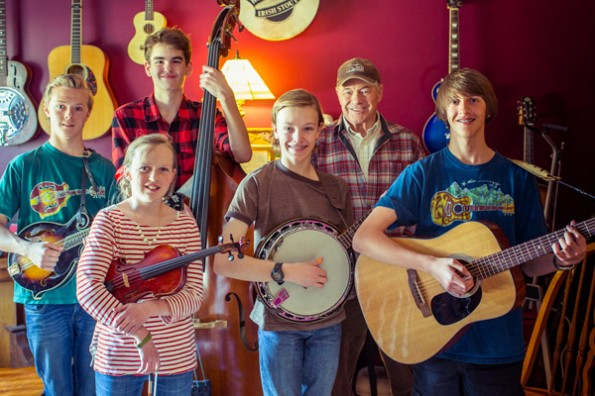 Flint and Steel: [left to right] Andy Knoblock, Ethan Stewart, behind Abby Clayton, Graham Northrop, Ted Shupe, Garrison Asper