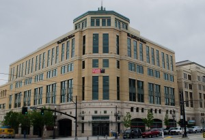 The Salt Lake Tribune relocated its offices from Main Street to the Gateway Center after they were purchased by Media News.