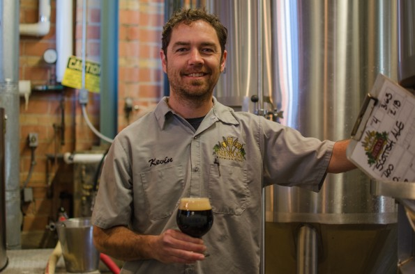Kevin Templin of Red Rock with a glass of Chocolate Chilli Porter