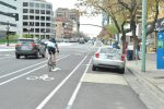 300 South Bikepath: Cyclists Still Use the Sidewalk