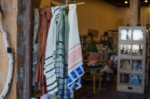 Hand blot silk scarves at Bohem