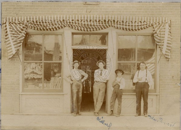 Bert Smoot's store where monument is now c1890