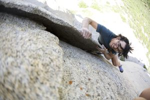 Shingo Ohkawa, The Flakes 5.10B, Little Cottonwood Canyon, UT