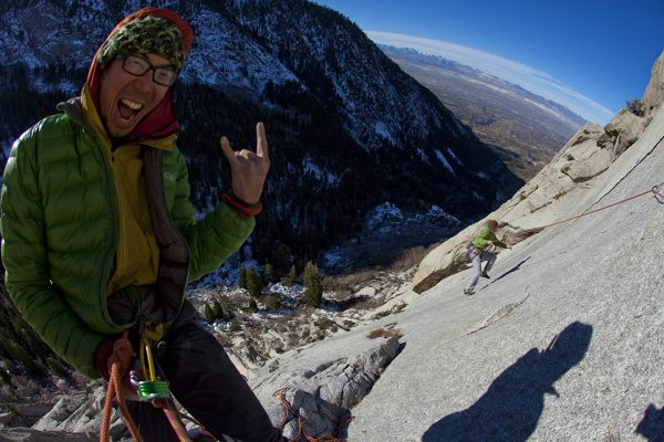 Shingo Ohkawa & Nik Berry, Arm and Hammer 5.10A0, Middle Bell Tower, Bells Canyon, Wasatch Mountains, UT