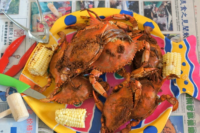 Maryland-style Steamed Blue Crabs