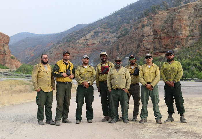 Wildland Firefighters in Spanish Fork Canyon