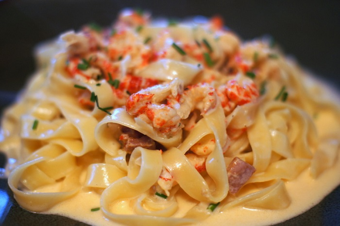 Crawfish & Andouille Fettuccine