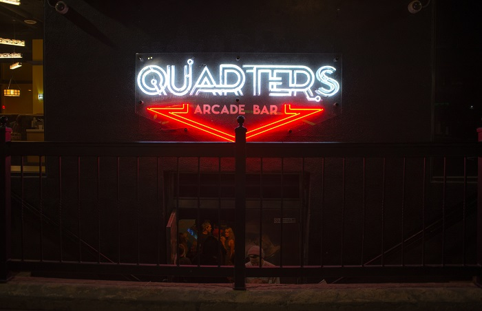 Dropping In At Quarters Arcade Bar