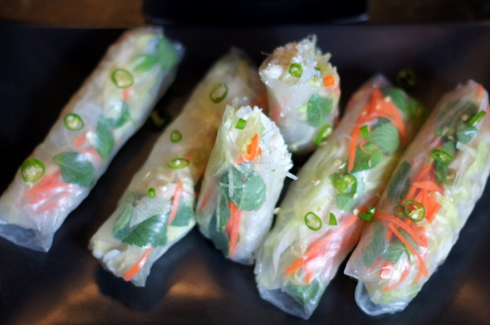 Crab-Stuffed Spring Rolls