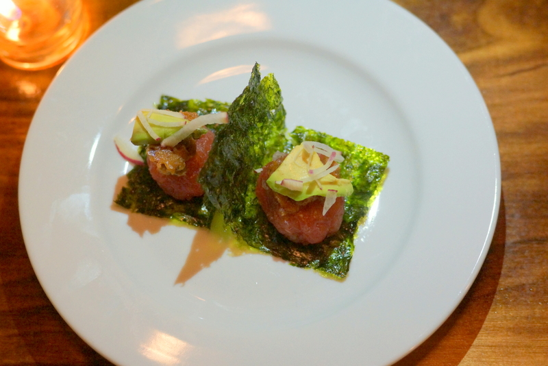 SLC Eatery: Tuna Crudo with Avocado, Nori & XO Sauce