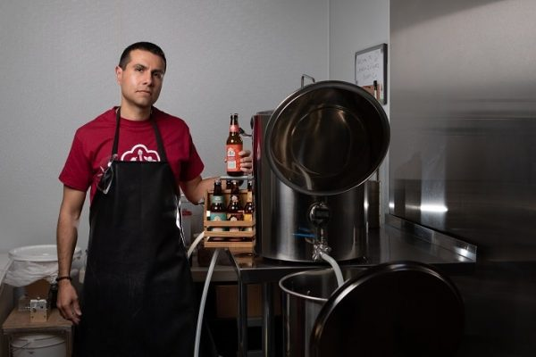 Javier Chavez Jr., owner and head brewer of Cervezas Zolupez