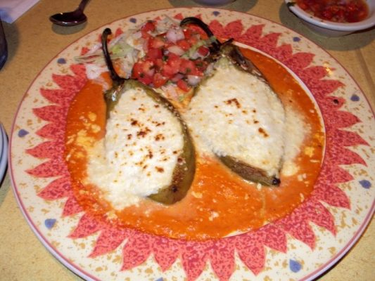 Loco Lizard seafood relleno dinner