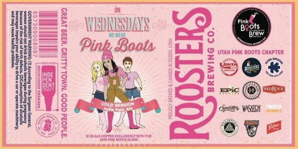 Brewing beer in pink boots