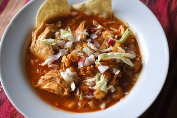 Taqueria Los Lee red chile pozole