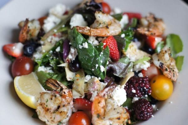 A gluten-free dish that is as tasty as it is colorful is the Gamberetti Salad at Caffe Molise.