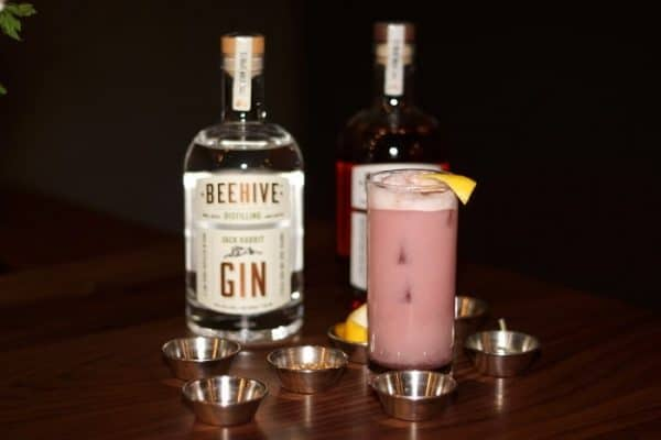 Beehive Distilling's signature product, Jack Rabbit Gin, is an artisan craft spirit made with natural ingredients including Albanian juniper berries, coriander seeds, sage leaves, lemon peel, rose petals, orris root, grains of Paradise, and finishing water from the Wasatch Mountains.