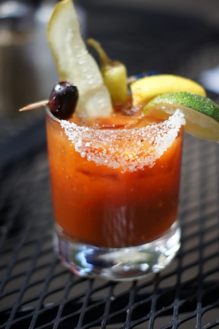This month Oasis Cafe introduced a number of new menu items to the food lineup there, as well as some new sips, such as the House Made Bloody Mary.