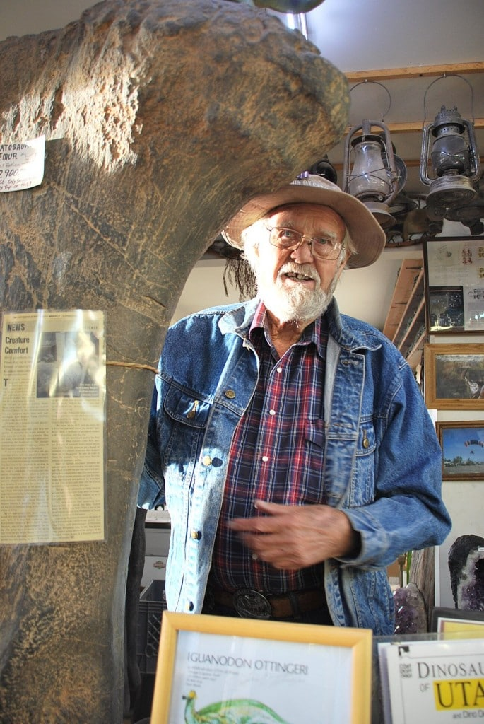 Lin Ottinger's Moab Rock Shop is a combination store and museum