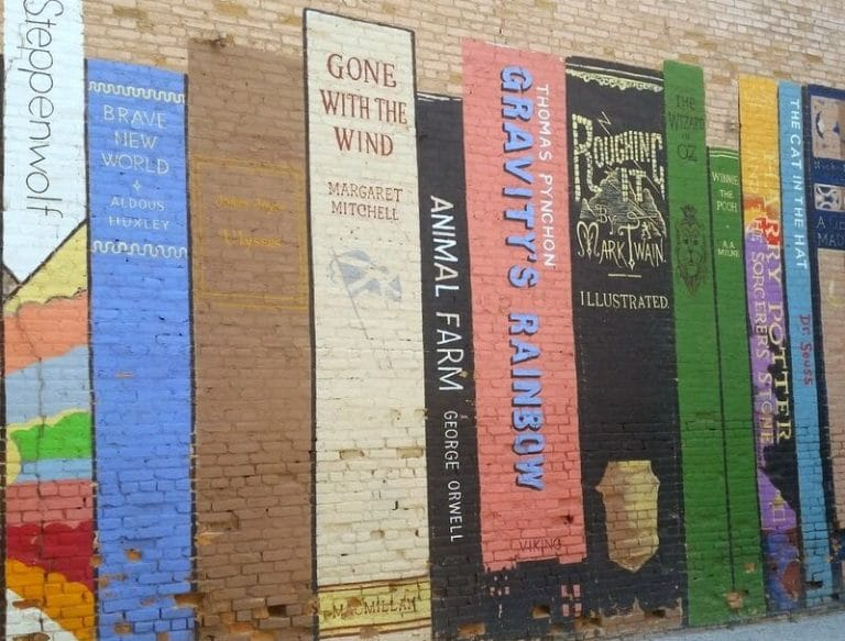 Book Mural downtown Salt Lake City