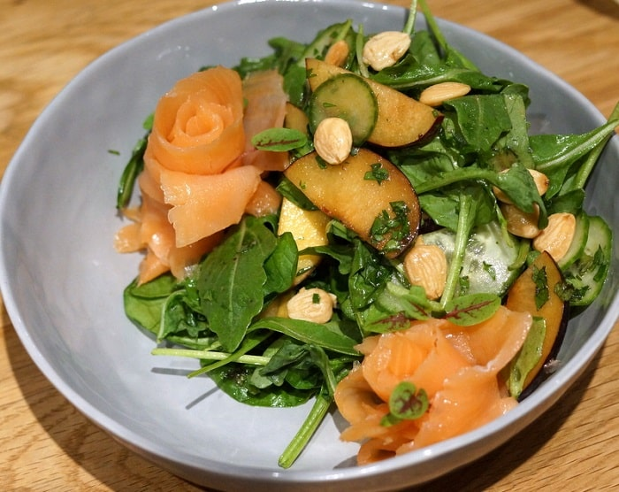 Summer Salad with Smoked Salmon