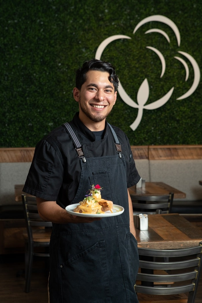 Chef Oscar Aguilar of Cotton Kitchen. Photos by Bryan Butterfield
