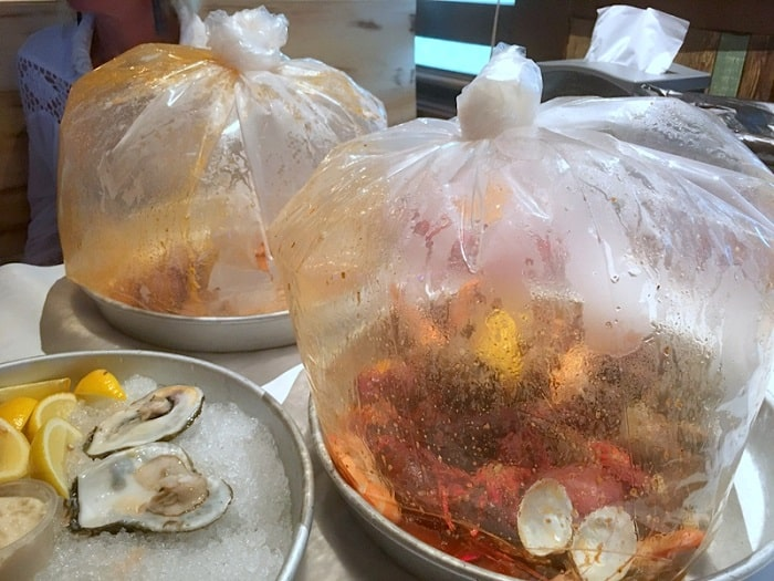 Shellfish Steamed in a Bag