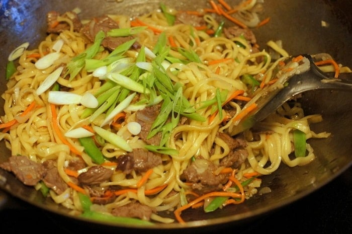 Yakisoba with Beef, a Classic Japanese Stir-Fry Dish Recipe