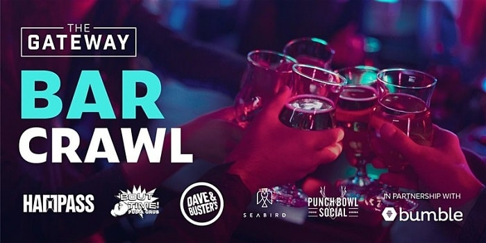 Valentine's Events Singles Awareness Day Bar Crawl @ The Gateway
