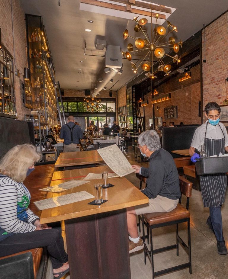 White Horse Spirits and Kitchen following social distance rules