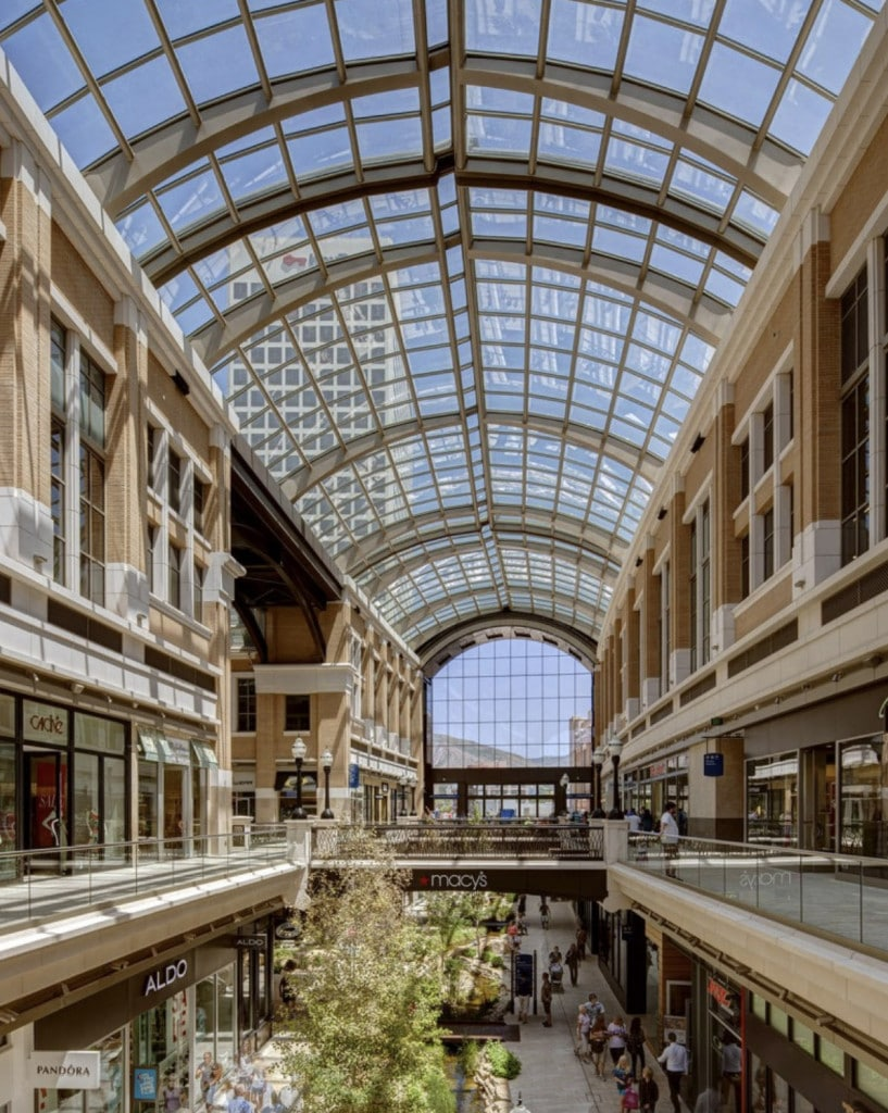 The City Creek Center in downtown Salt Lake City.